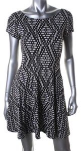 Aqua short dress Black/ White on Tradesy