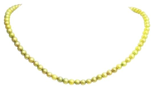 Other Green 4mm Freshwater Pearl 925 Sterling Silver Necklace