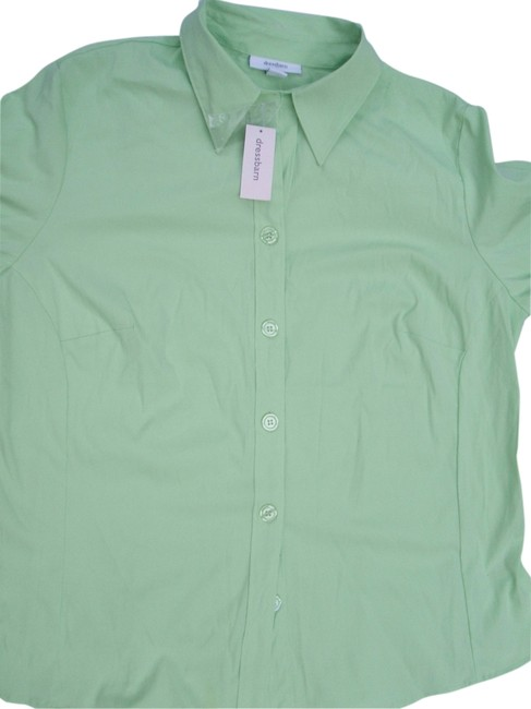 dressbarn Button Down Shirt Green