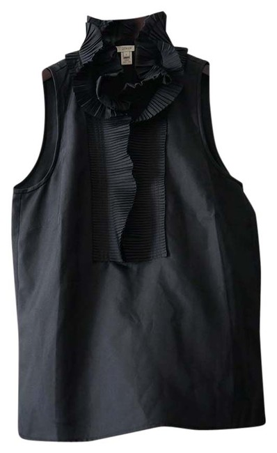Preload https://item5.tradesy.com/images/jcrew-black-victoria-ruffle-cami-blouse-size-2-xs-6086749-0-0.jpg?width=400&height=650