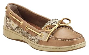 Sperry Gold Boat Casual Casual Women's Gold Glitter/Tan Flats