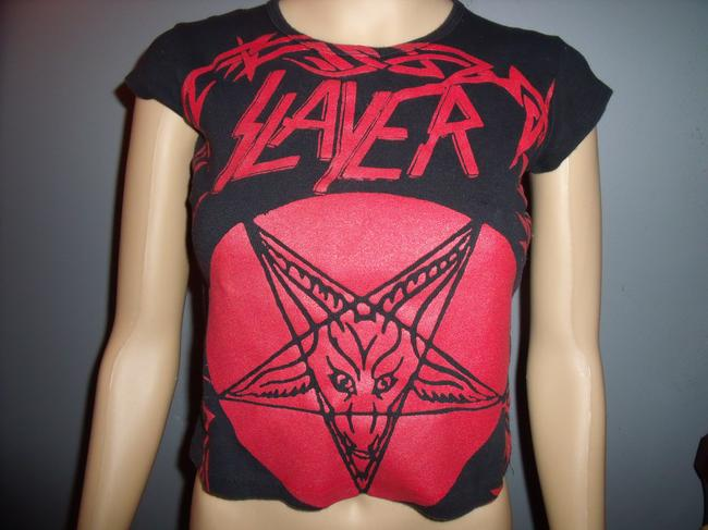 Other Slayer Girly Fitted Diy Handmade T Shirt Black & Red