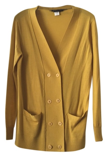 Preload https://item1.tradesy.com/images/bcbgmaxazria-yellow-cardigan-size-4-s-6086920-0-0.jpg?width=400&height=650