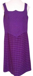 Roger Nelson of Reldan short dress purple Vintage Wool Mini Gogo Mod on Tradesy