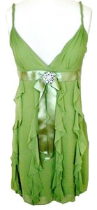 BCBGMAXAZRIA Silk Chiffon Beaded Dress