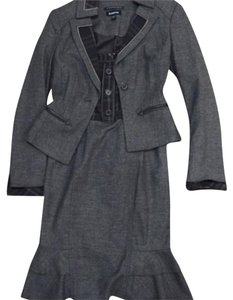 bebe Suit Work Suit Wool Leather Tweed Work Blazer Work And Blazer Set Dress