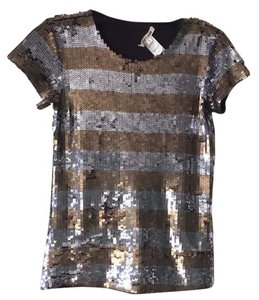 Alice + Olivia Top Silver and Gold