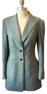 Escada Pinstripe Luxury Superfine Soft gray Blazer