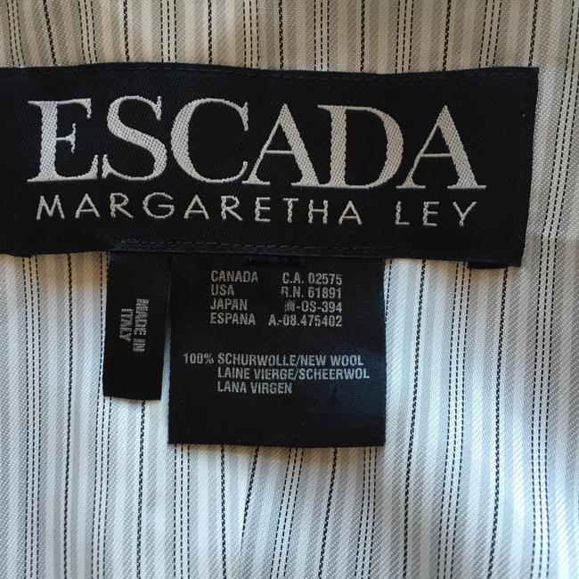 Escada Pinstripe Luxury Superfine Wool Vintage Soft gray Blazer
