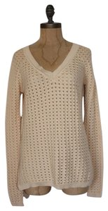 BCBGMAXAZRIA Knit V Neck Crochet Bcbg Sweater