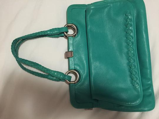 Bottega Veneta Satchel in aqua green