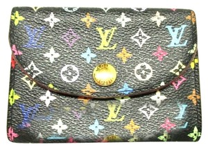 Louis Vuitton Authentic Louis Vuitton Multicolore Monogram Noir Business Card Case w/ Natural Interior