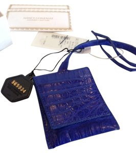 Nancy Gonzalez NANCY GONZALEZ NWT COBALT BLUE CROCODILE LUGGAGE TAG