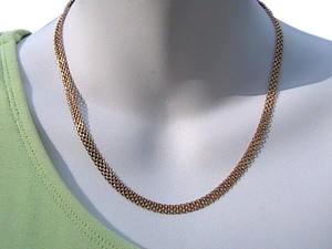 Mexican 10k Yellow Gold Mesh Necklace