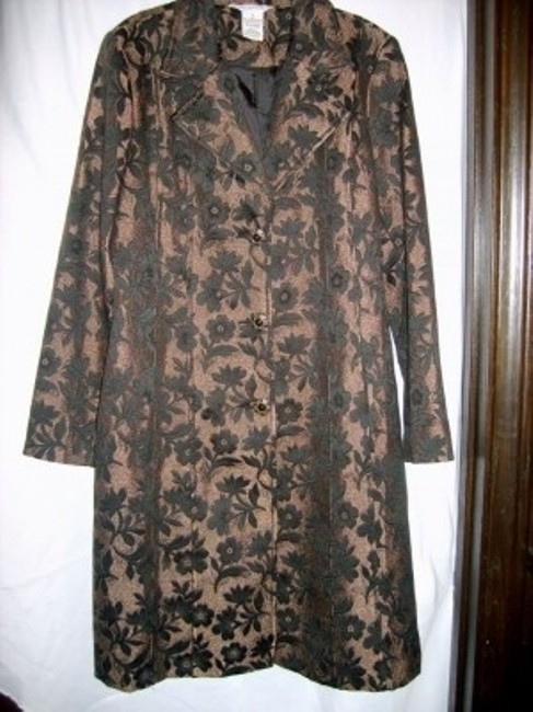 Preload https://item5.tradesy.com/images/george-bronze-and-balck-floral-black-lined-pea-coat-size-16-xl-plus-0x-6089-0-0.jpg?width=400&height=650