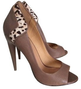 L.A.M.B. Brown + animal print Pumps
