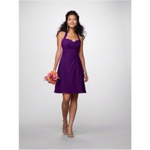 Alfred Angelo Grape Chiffon Modern Bridesmaid/Mob Dress Size 2 (XS)