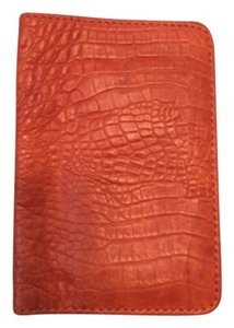 Linea Pelle Linea Pelle Orange Leather Card Holder