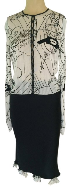 Preload https://item2.tradesy.com/images/john-galliano-black-and-white-2-piece-s-in-excellent-condition-skirt-suit-size-2-xs-6091066-0-0.jpg?width=400&height=650