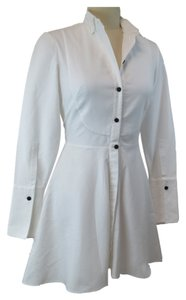 Alexander McQueen short dress white Shirt Peplum Fit And Flare on Tradesy