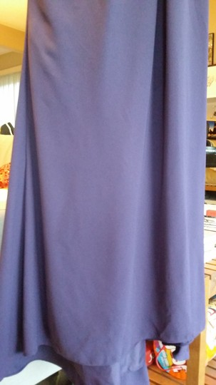 White by Vera Wang Amethyst Polyester Lining and Outer Shell Evening Open Back Formal Bridesmaid/Mob Dress Size 0 (XS)