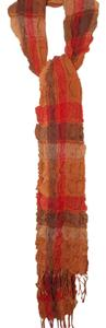 Suantrai Irish Orange Multi Color Fine Wool Scarf