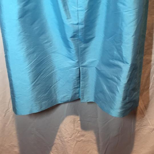 Alfred Sung Aquamarine Polyester Traditional Bridesmaid/Mob Dress Size 10 (M)