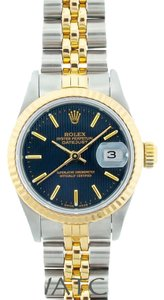 Rolex LADIES ROLEX DATEJUST 2-TONE NAVY BLUE DIAL