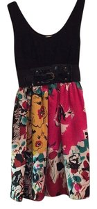 Arden B. short dress Black Spring Graduation Floral Summer Colorful on Tradesy