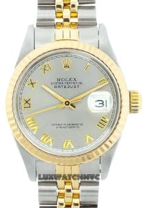Rolex LADIES ROLEX DATEJUST 2-TONE WITH LIGHT GREY DIAL