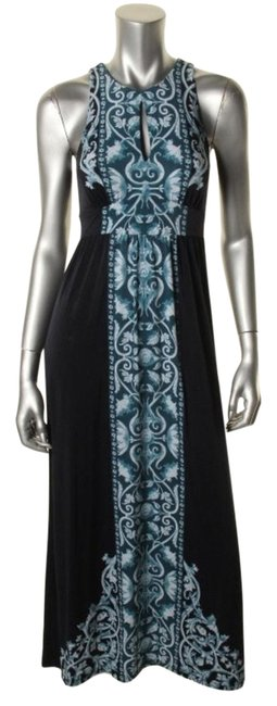 Black and Blue Maxi Dress by INC International Concepts