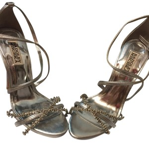 Badgley Mischka Silver Sandals