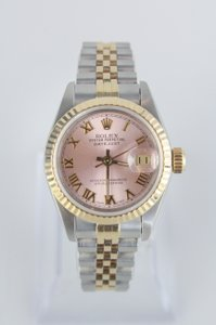 Rolex Women's Pink and Sapphire Rolex Datejust
