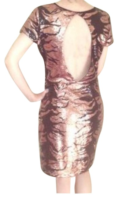 Upson Downes Sequin Formfitting Flashy Sparkle Party Newyearseve Celebration Club Disco Event Dress
