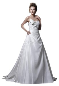 Enzoani Elegant Silk Dupion Wedding Dress