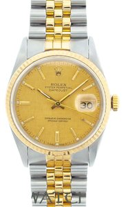 Rolex MEN'S ROLEX DATEUST 2-TONE WITH YELLOW DIAL