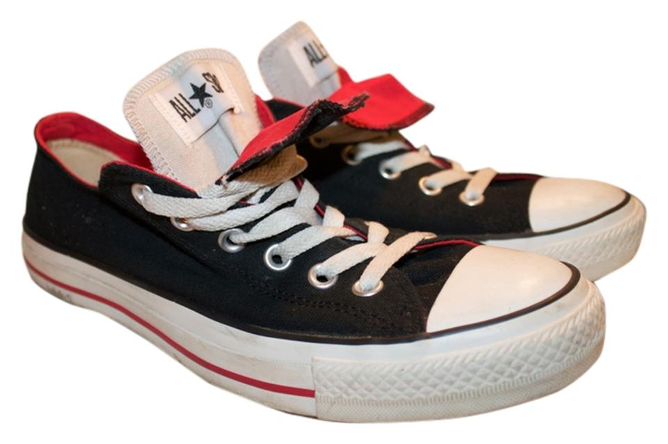 a5cf49a8766829 Converse Black Red Gray Oxford All Star Double Tongue Sneakers. Size  US 10  Regular (M ...
