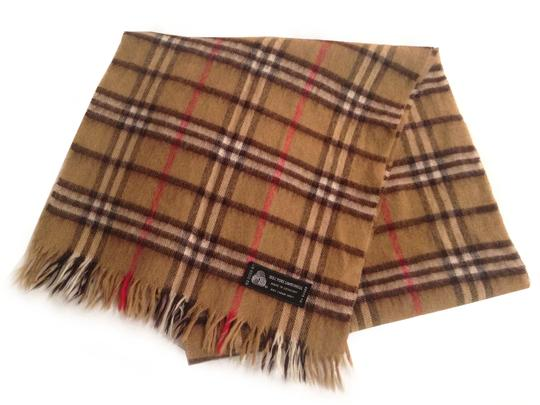 Other Vtg. Camel Checkered 100% Lambs Wool Scarf- 54