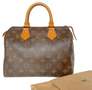 Louis Vuitton Lv Speedy 25 Monogram Satchel in Brown