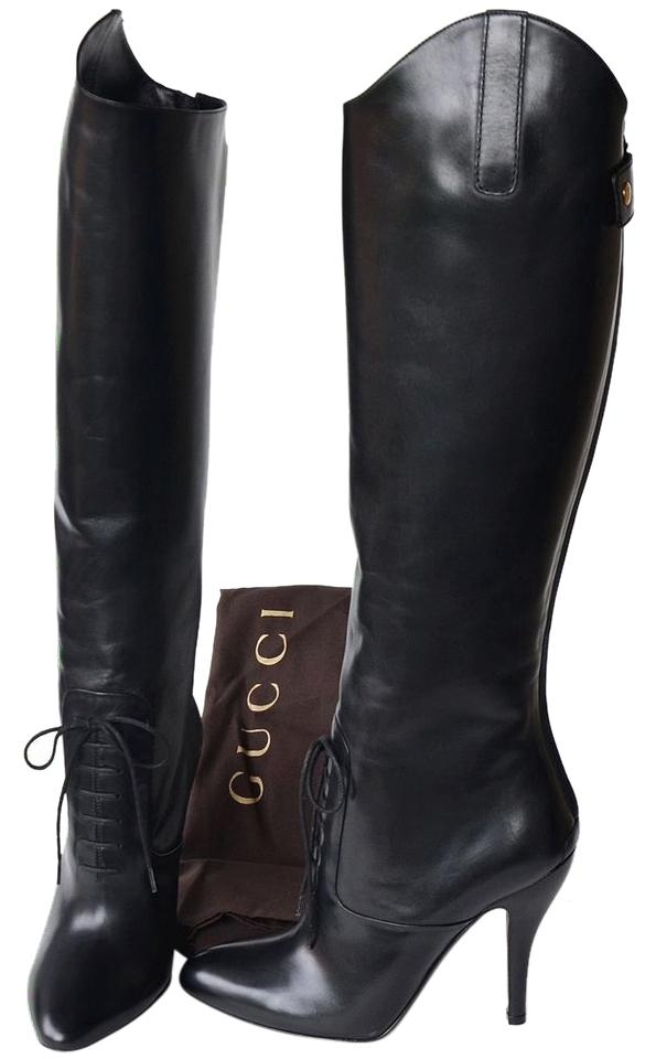 fe01cd5ee3a Gucci Black Womens Designer High Heels Boots Booties Size US 8 ...