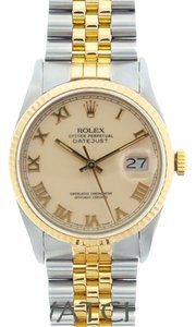 Rolex 36MM MEN'S ROLEX DATEJUST 2-TONE WATCH W/ ROLEX BOX & APPRAISAL