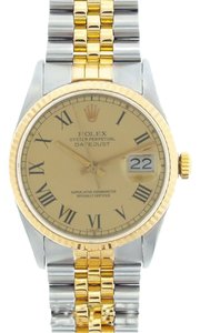 Rolex MEN'S ROLEX DATEJUST 2-TONE WITH YELLOW DIAL