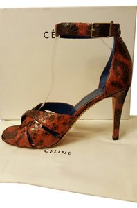 Céline Python brick brown Sandals