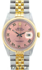 Rolex MEN'S ROLEX DATEJUST 2-TONE WITH PINK CAMPAIGN DIAL