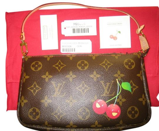 Louis Vuitton Lv Cherry Pochette Poch Cerises M95008 Ceri Poch Acces Accessories Limited Edition Graffiti Mirror Watercolor Water Monogram Clutch