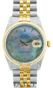 Rolex MEN'S ROLEX DATEJUST 2-TONE WITH BLUE MOTHER OF PEARL DIAL