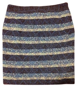 White House | Black Market Mini Skirt blues