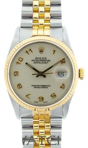 Rolex 36MM MEN'S ROLEX DATEJUST 2-TONE WITH JUBILEE DIAL