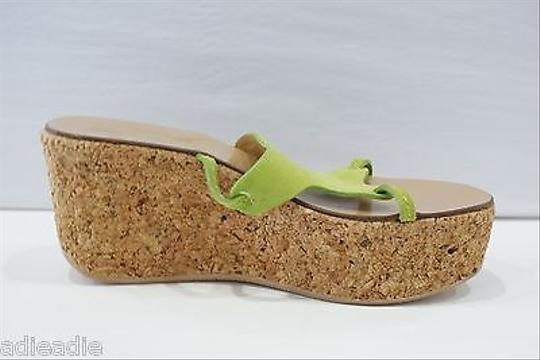 Other Tapeet Vicini Suede Cork Wedge Or Green Platforms