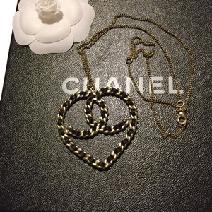 Chanel Chanel Satin and Chain Heart Pendant